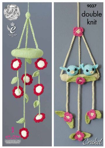 Baby Mobiles King Cole Crochet Pattern-  9037,